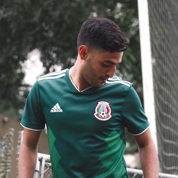 99bf6d663f7 Mexico 2018 World Cup adidas Home Shirt. Football Apparel ...