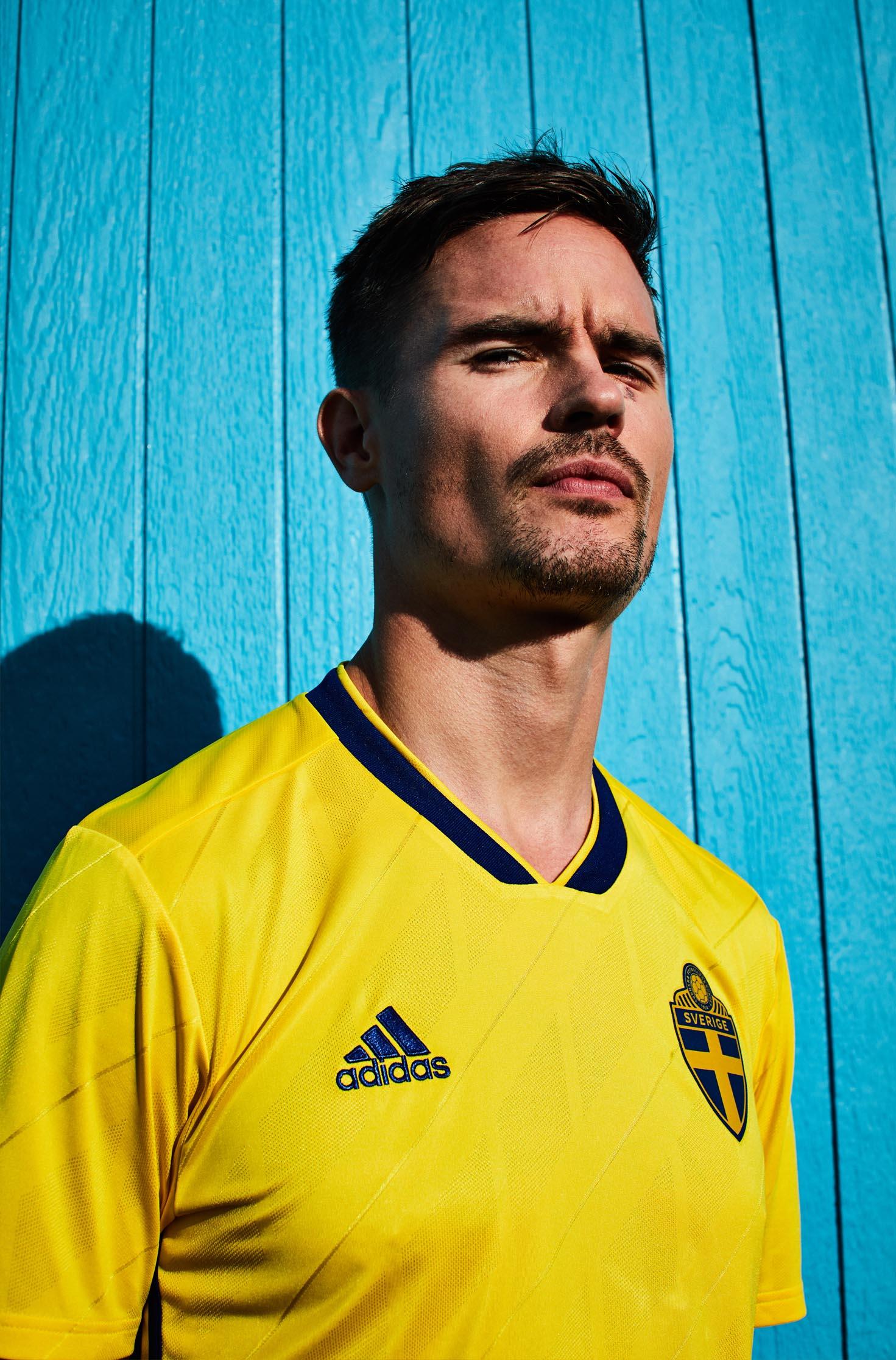 8b11d88863f Sweden 2018 adidas Home Shirt - SoccerBible.