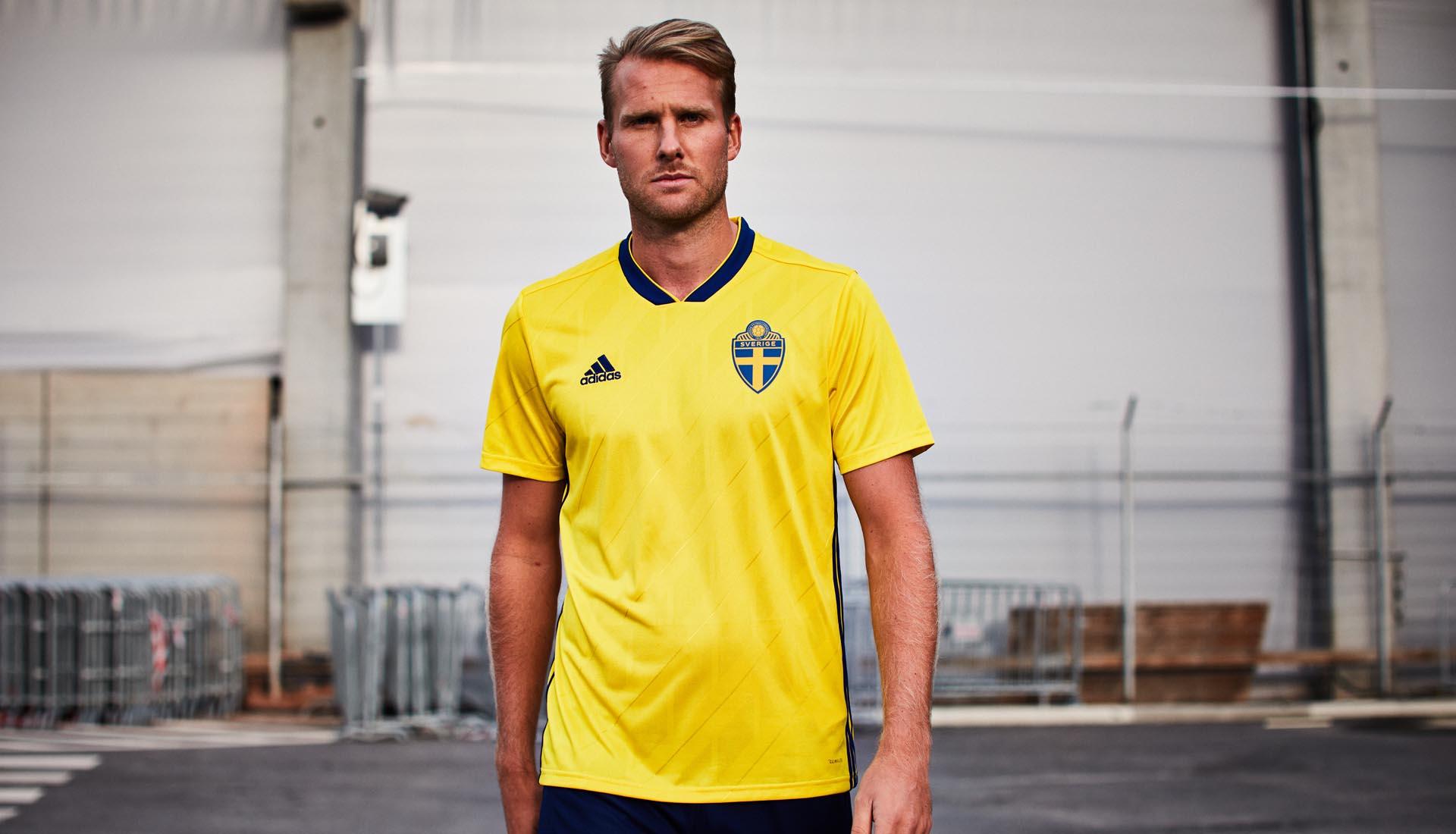9f374c46926 Sweden 2018 adidas Home Shirt - SoccerBible