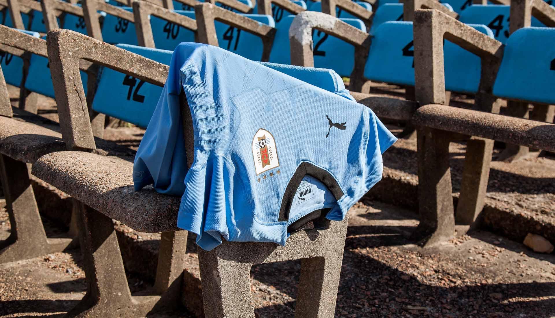 89bac1a2b Uruguay 2018 World Cup PUMA Home Shirt - SoccerBible