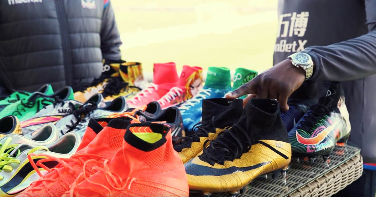 86e579518 Bakary Sako Shows Off His Customised Boot Collection - SoccerBible.