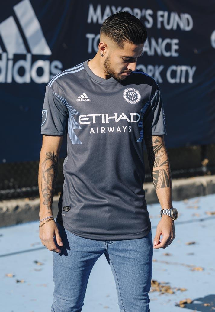 pretty nice a2066 9909e New York City FC 2018 adidas Away Shirt - SoccerBible