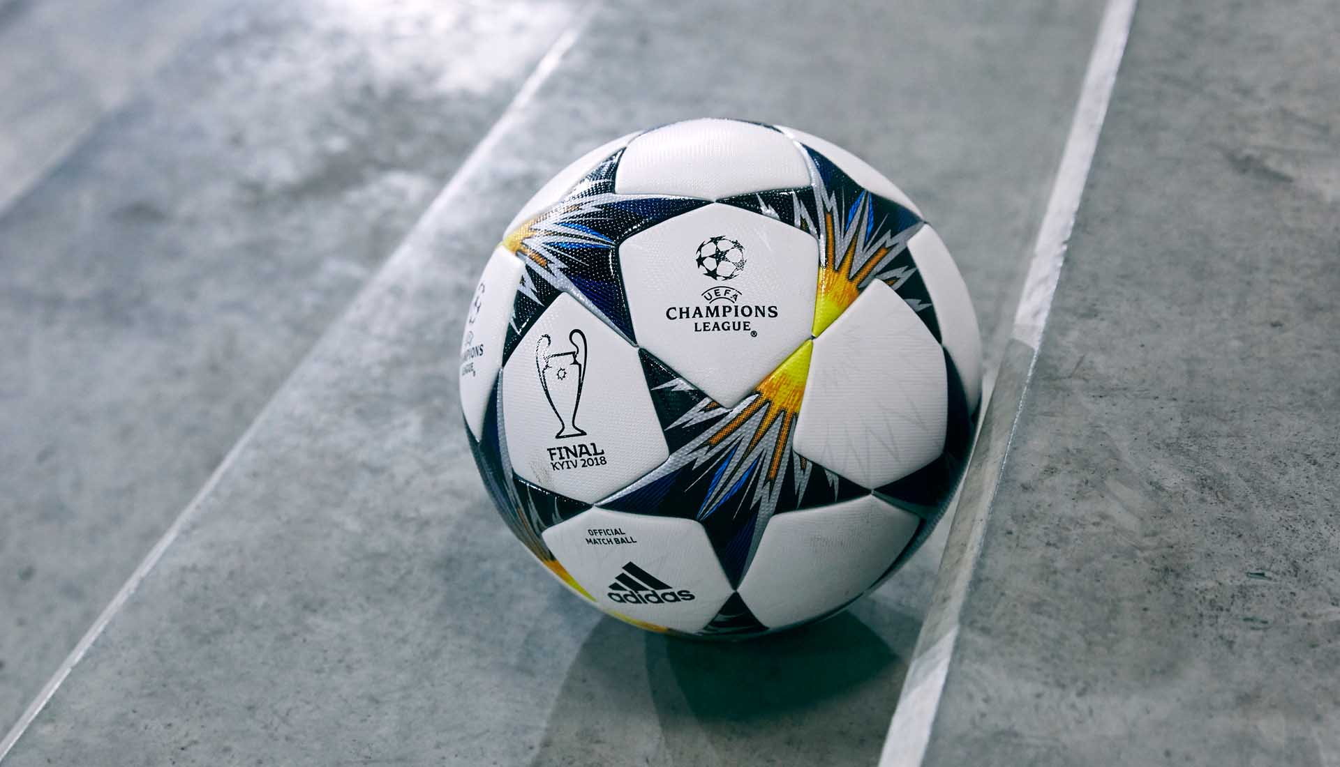 5923037c1 adidas UCL Finale Ball Retrospect. 12 February 2018. As adidas reveal their  18th Champions League Final match ...