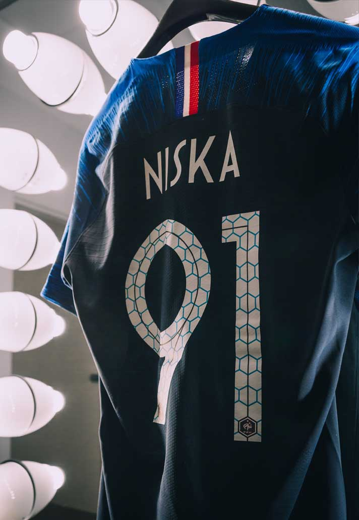 7430ed44c Niska Reveals France 2018 World Cup Nike Home Shirt - SoccerBible