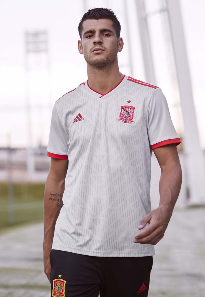 e982b33c2 adidas Launch The Spain 2018 World Cup Away Shirt - SoccerBible
