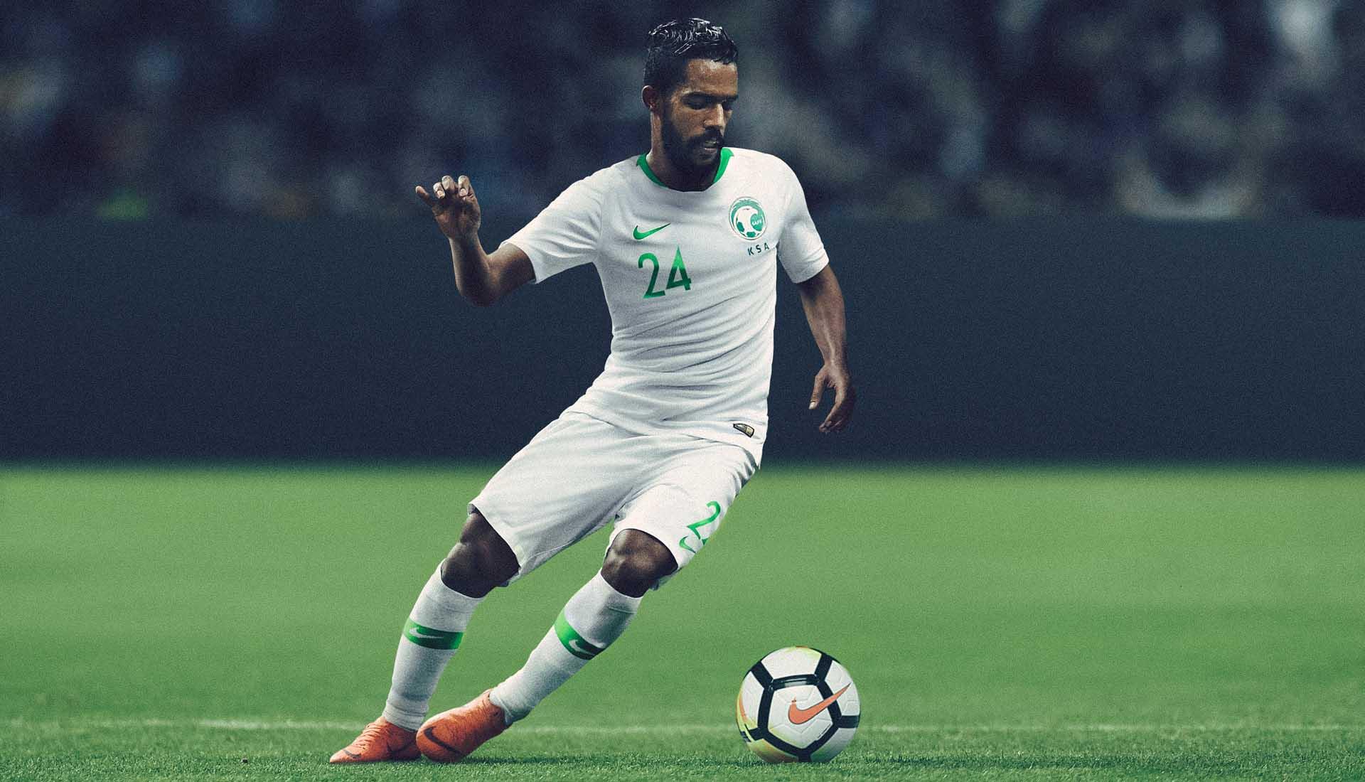 big sale 1fc17 529ba Nike Launch Saudi Arabia 2018 World Cup Kits - SoccerBible