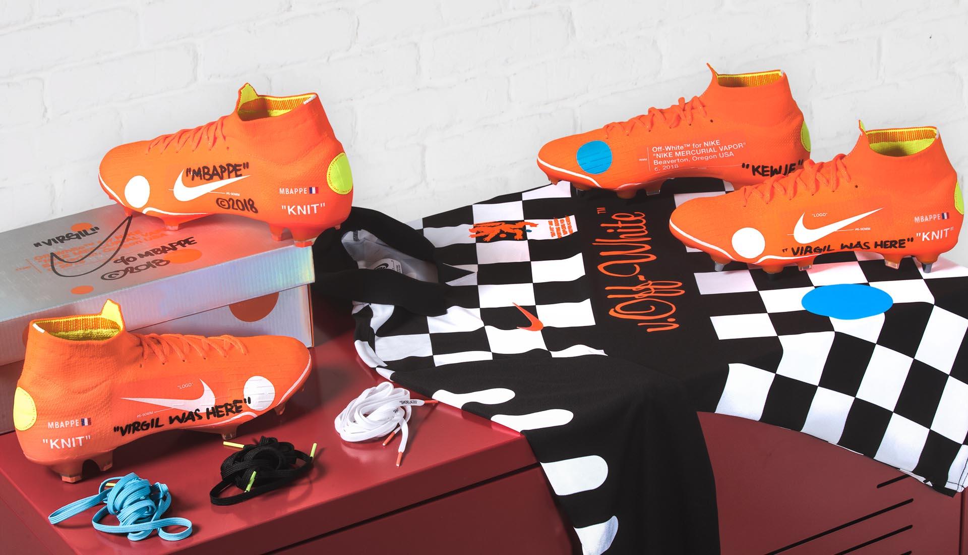 7dfaa595b96023 Kylian Mbappé Launches The Nike x Virgil Abloh Mercurial 360 ...