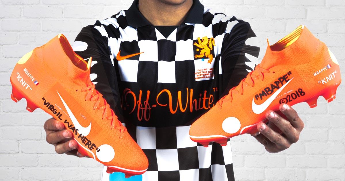 5b0a781aa15 Kylian Mbappé Launches The Nike x Virgil Abloh Mercurial 360 - SoccerBible.