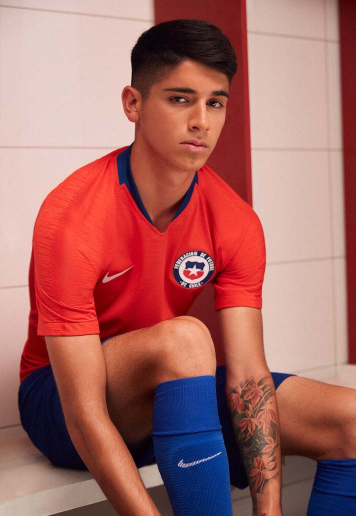 049cb8c89 Nike Launch Chile 2018 Home & Away Kits - SoccerBible.