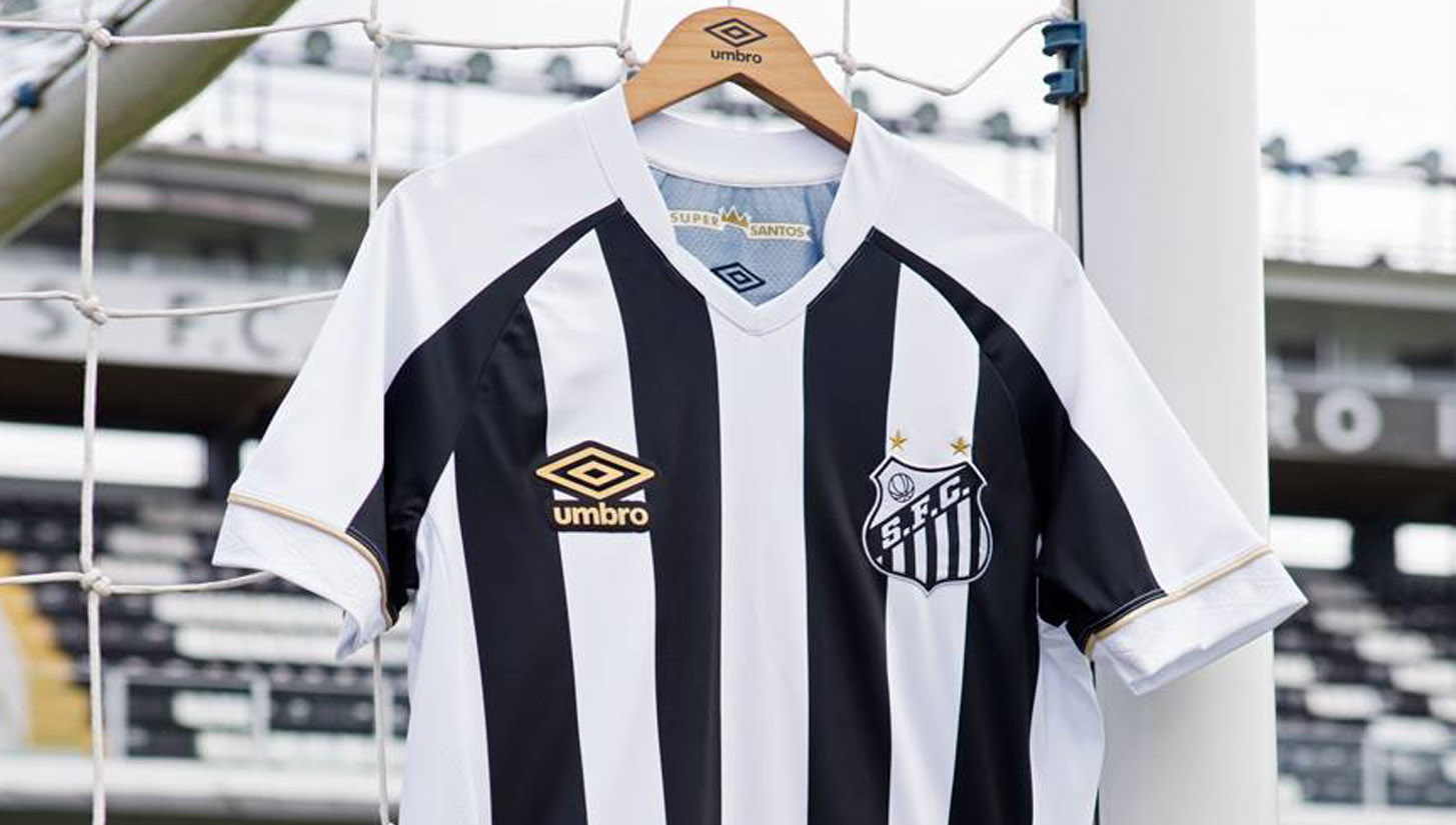 Umbro Launch Santos 18 19 Home   Away Shirts - SoccerBible. 845a536f2