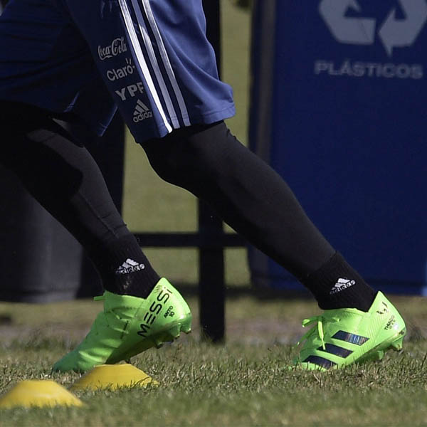 586df315261b Lionel Messi Trains In Blackout adidas Nemeziz Boots - SoccerBible