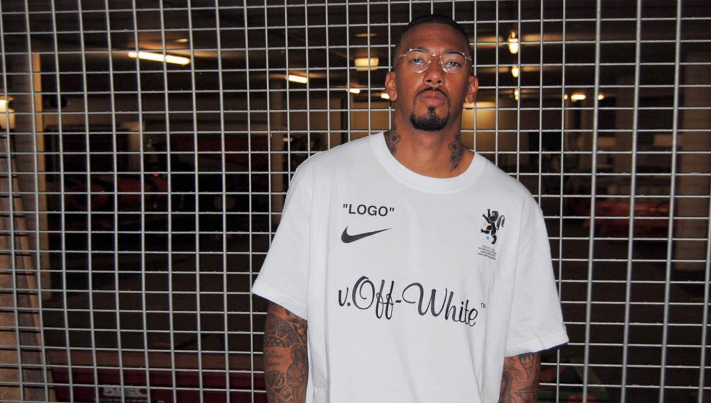 f025ae82 Jerome Boateng Debuts Nike x OFF-WHITE World Cup Collab - SoccerBible