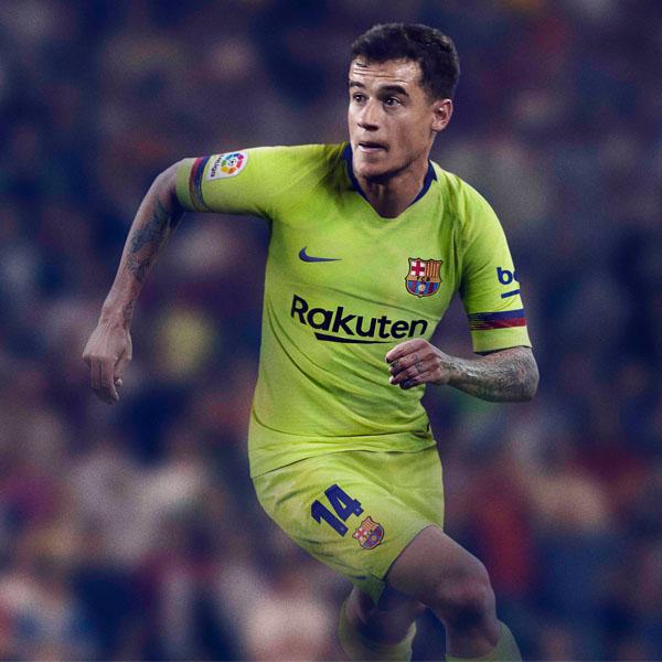 7a0012344ee Nike Launch Barcelona 2018 19 Away Shirt. Football ...