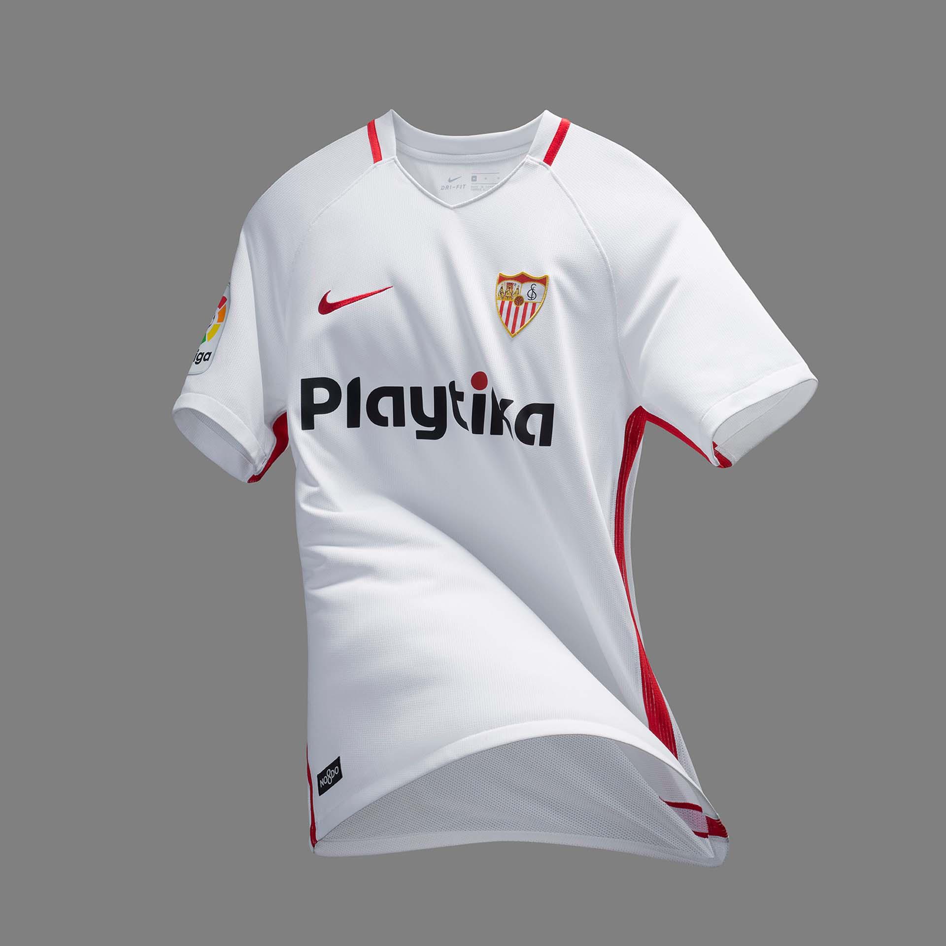 c6e26578a Nike Launch Sevilla 18/19 Home, Away & Third Shirts - SoccerBible