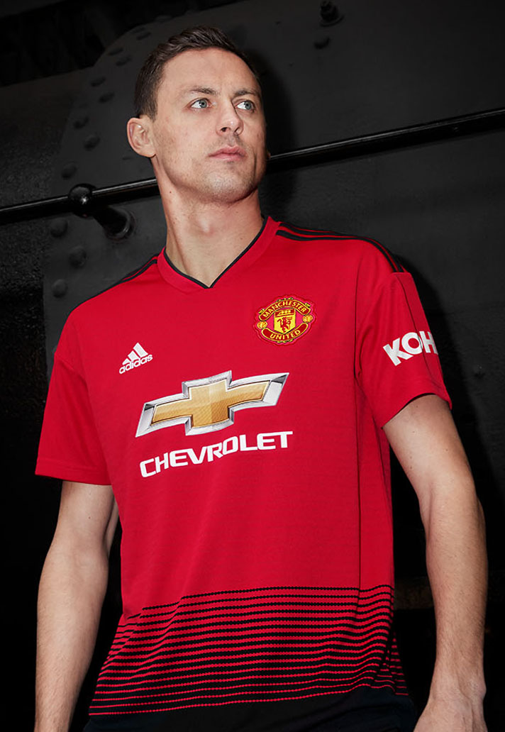 f378a4c9c adidas Launch The Manchester United 18 19 Home Shirt - SoccerBible