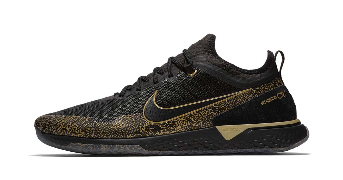 nike reveal the react fc cr7 in quotblackmetallic gold