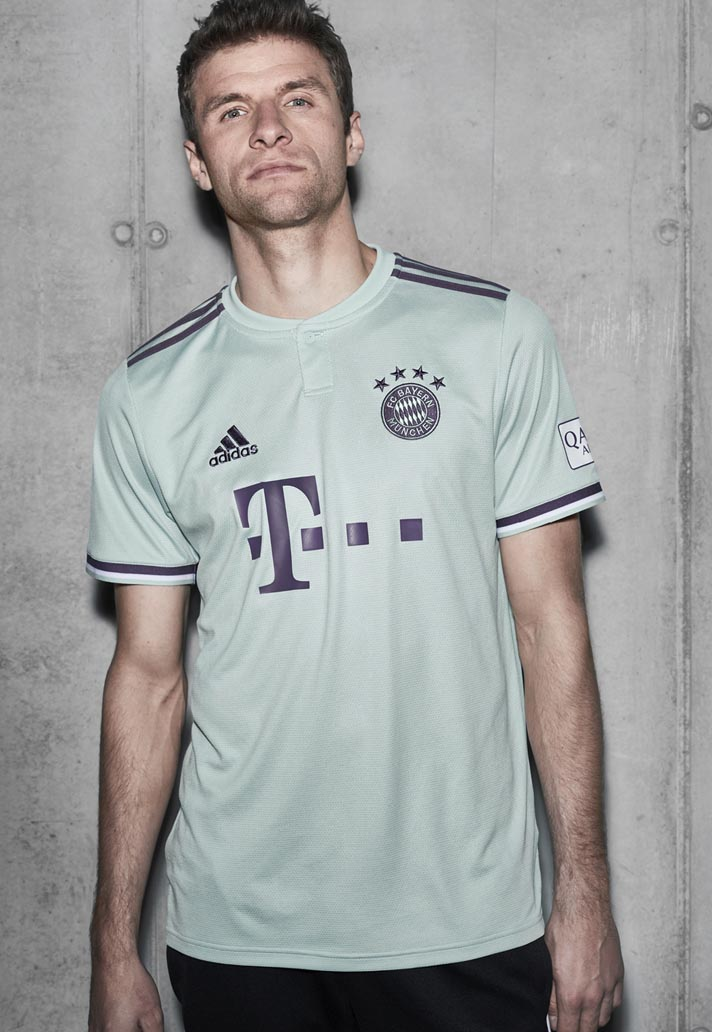 3306b2831 adidas Launch Bayern Munich 2018 19 Away Shirt - SoccerBible