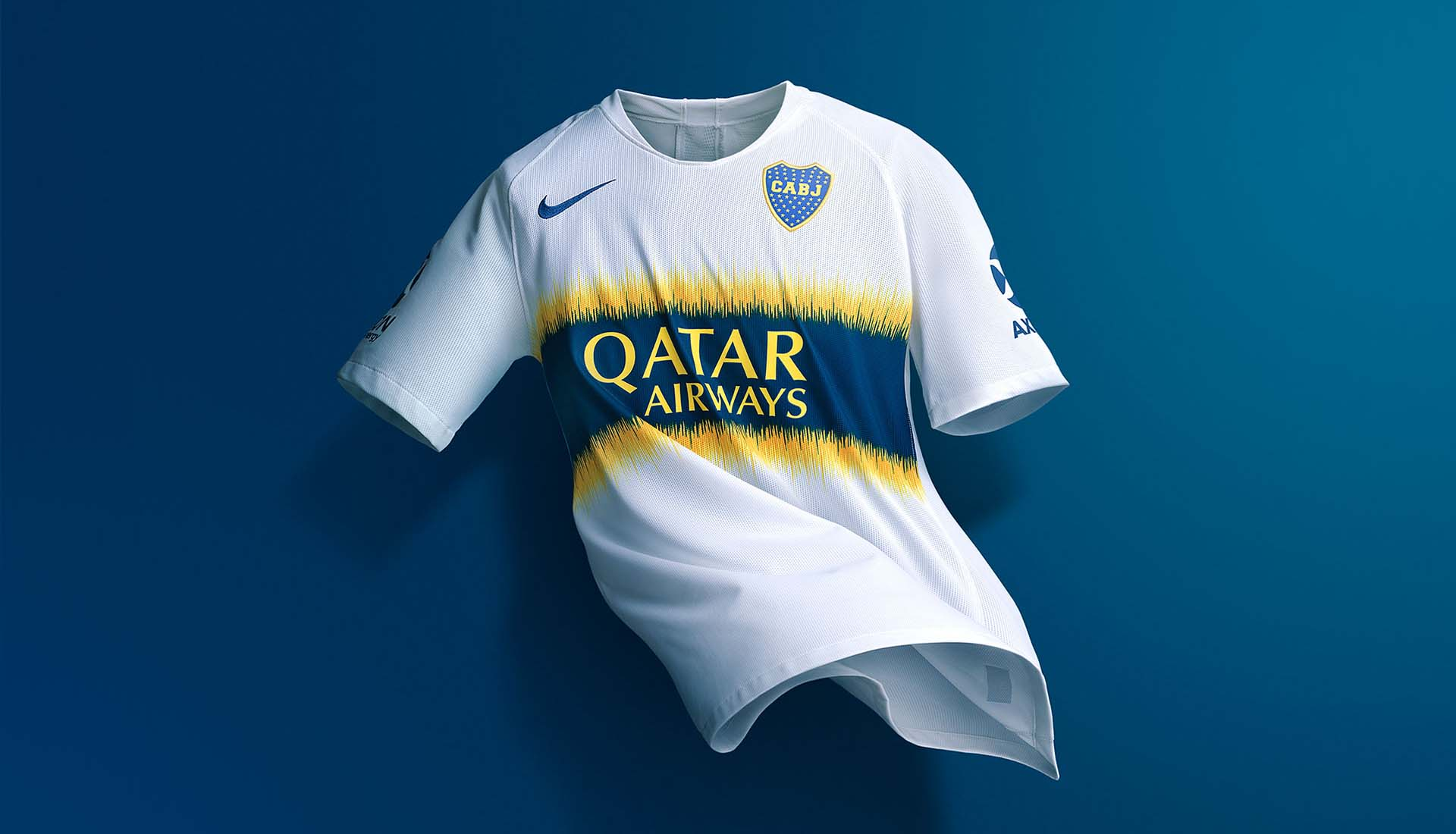 d8cea14b4 Nike Launch Boca Juniors 18 19 Home   Away Kits - SoccerBible