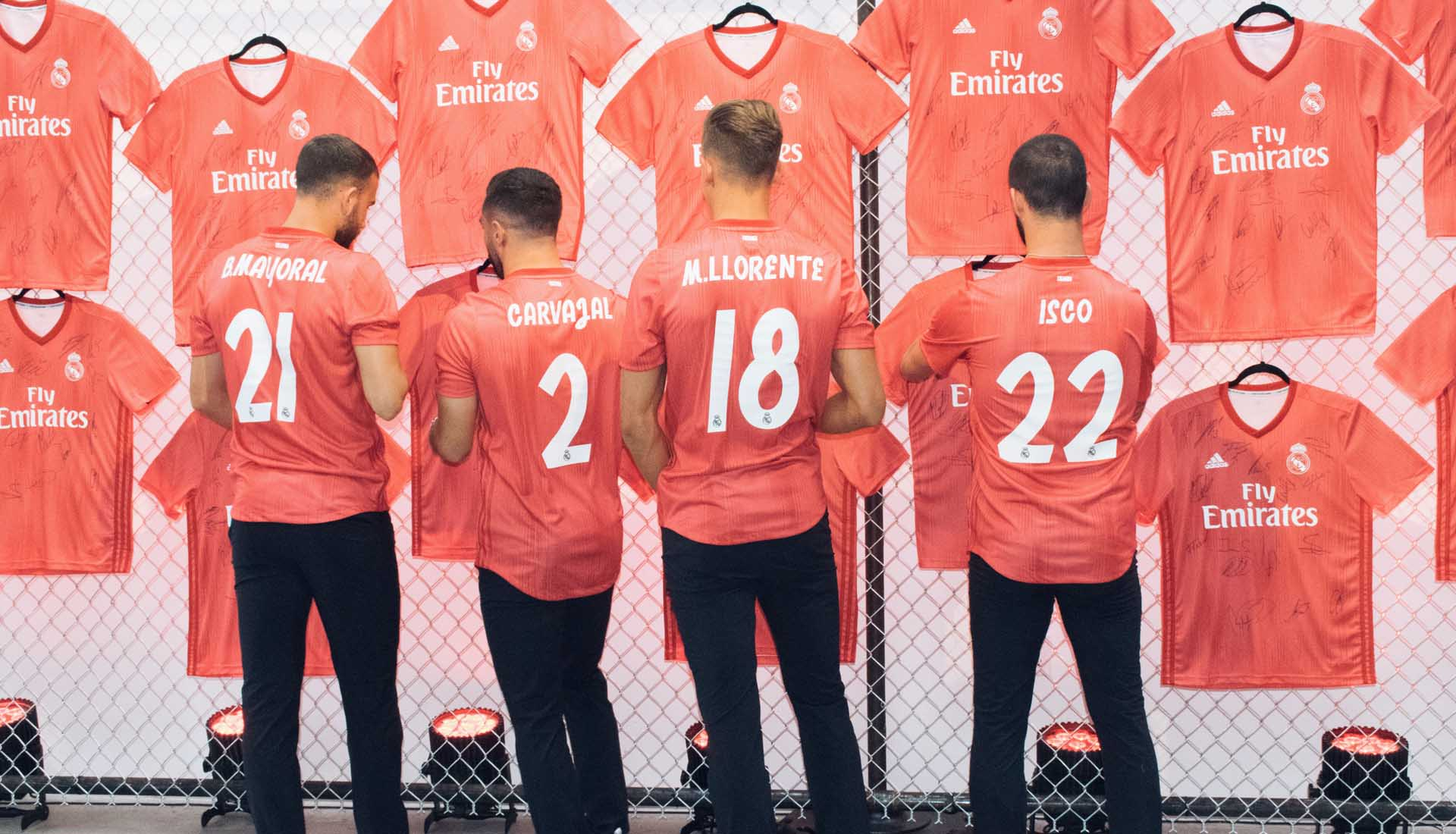 first rate b04ee 5b13b Real Madrid Players Launch Parley Third Shirt in New York ...