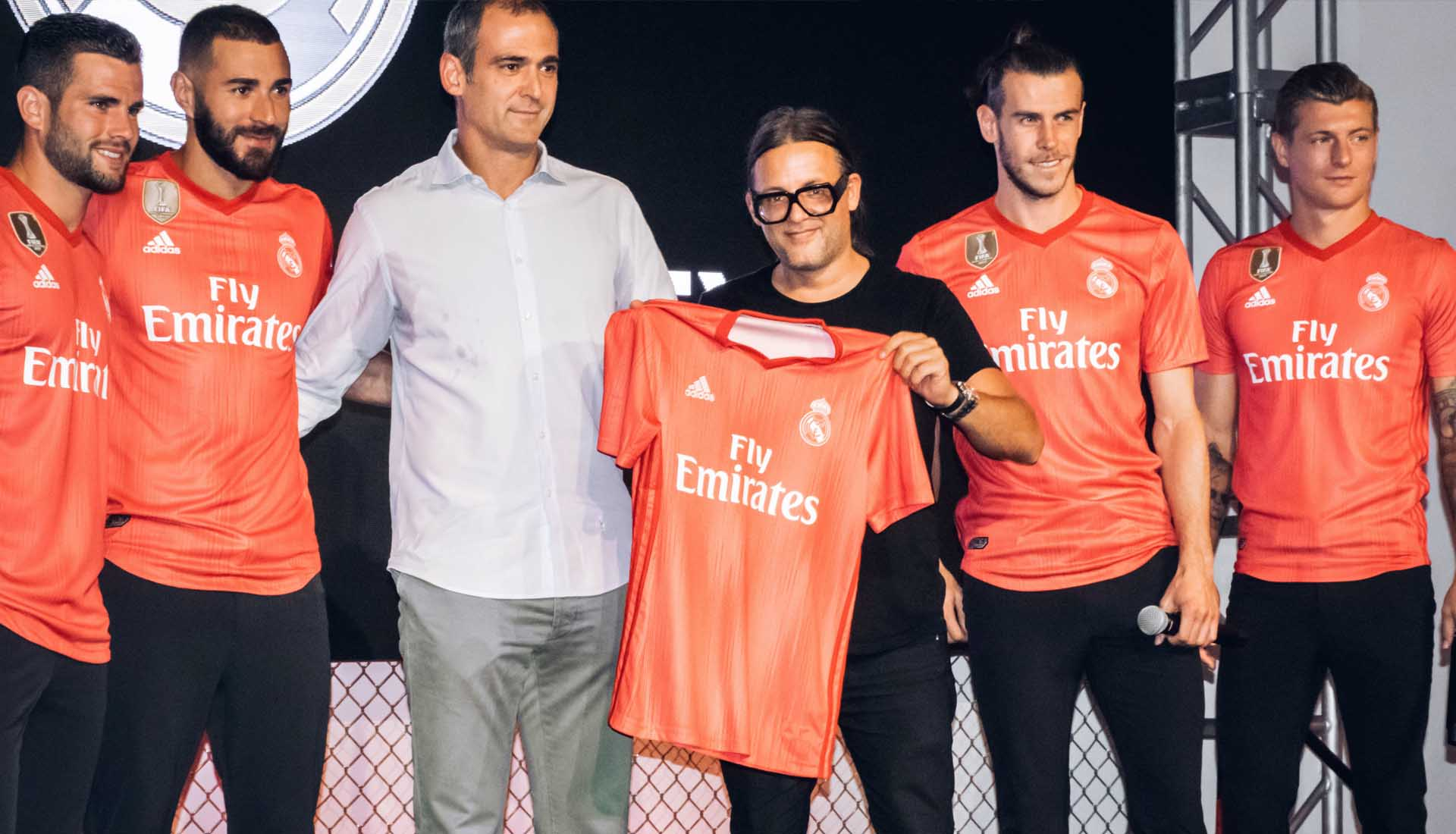 first rate 64a34 77fa0 Real Madrid Players Launch Parley Third Shirt in New York ...