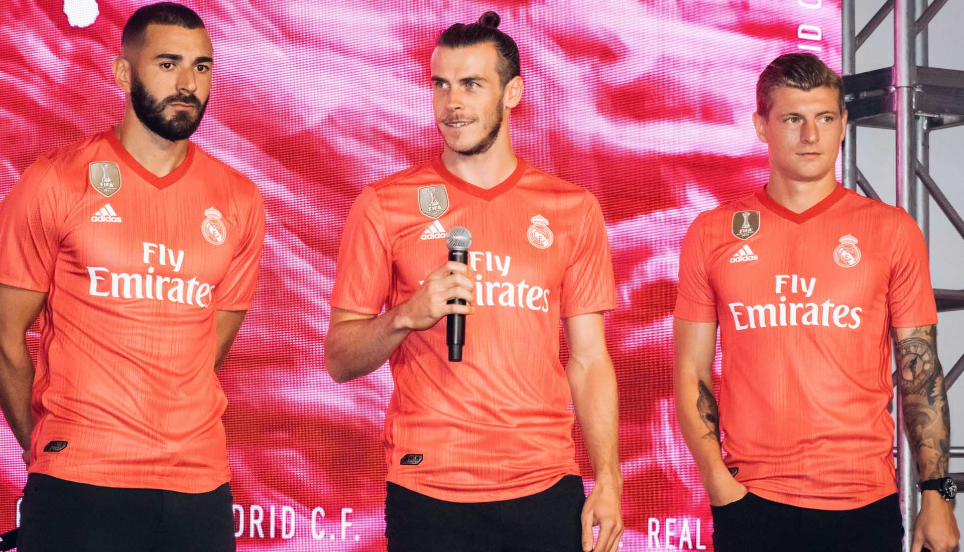 first rate 76aee f46ad Real Madrid Players Launch Parley Third Shirt in New York ...