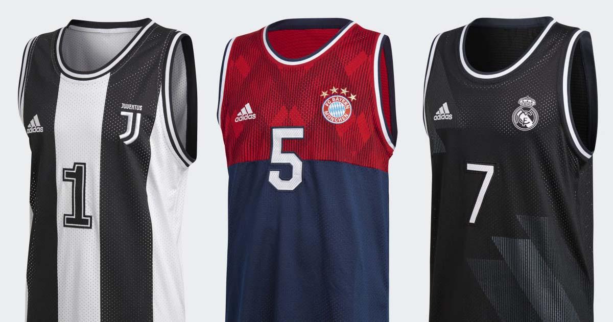 wholesale dealer 53d52 8e8a8 adidas Launch Club Basketball Jerseys for Bayern, Juve ...