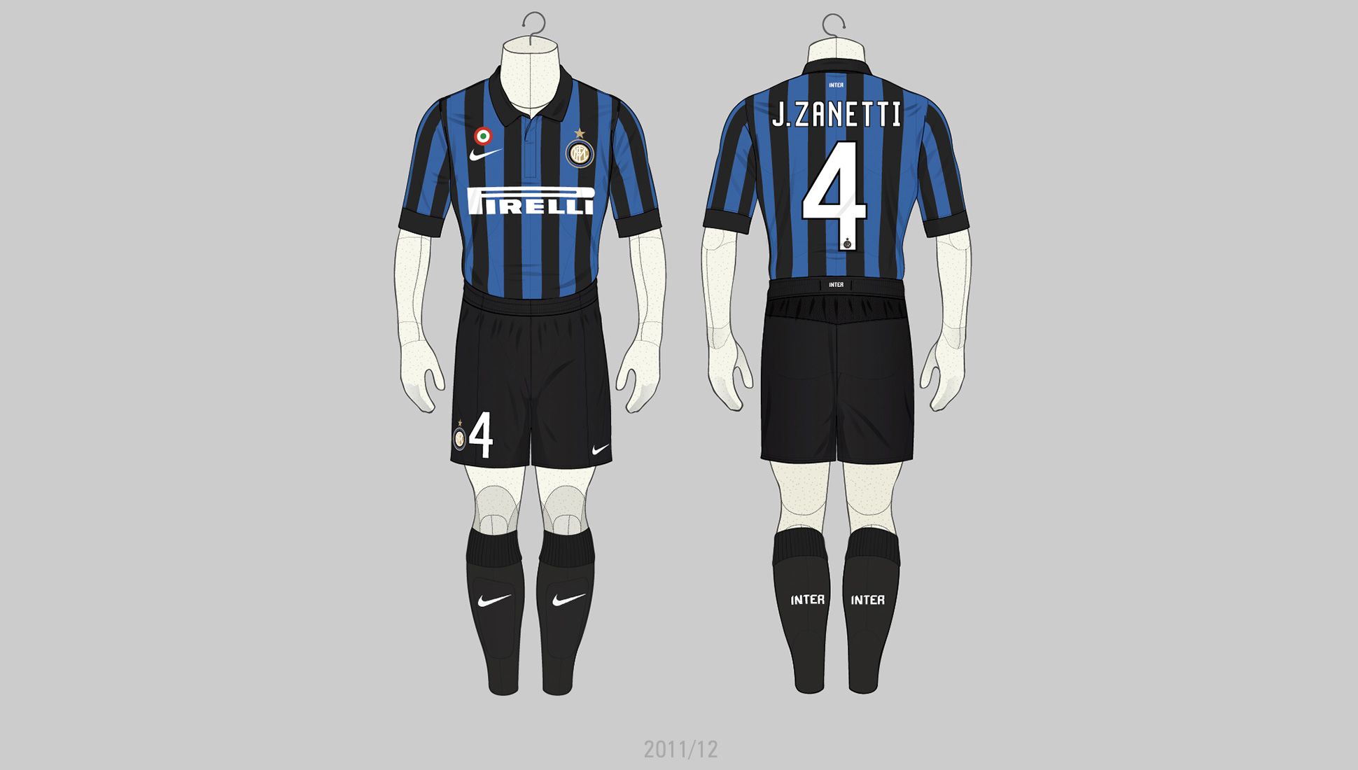 purchase cheap 4a611 ab9c7 Zanetti's Inter Milan Kits Illustrated - SoccerBible