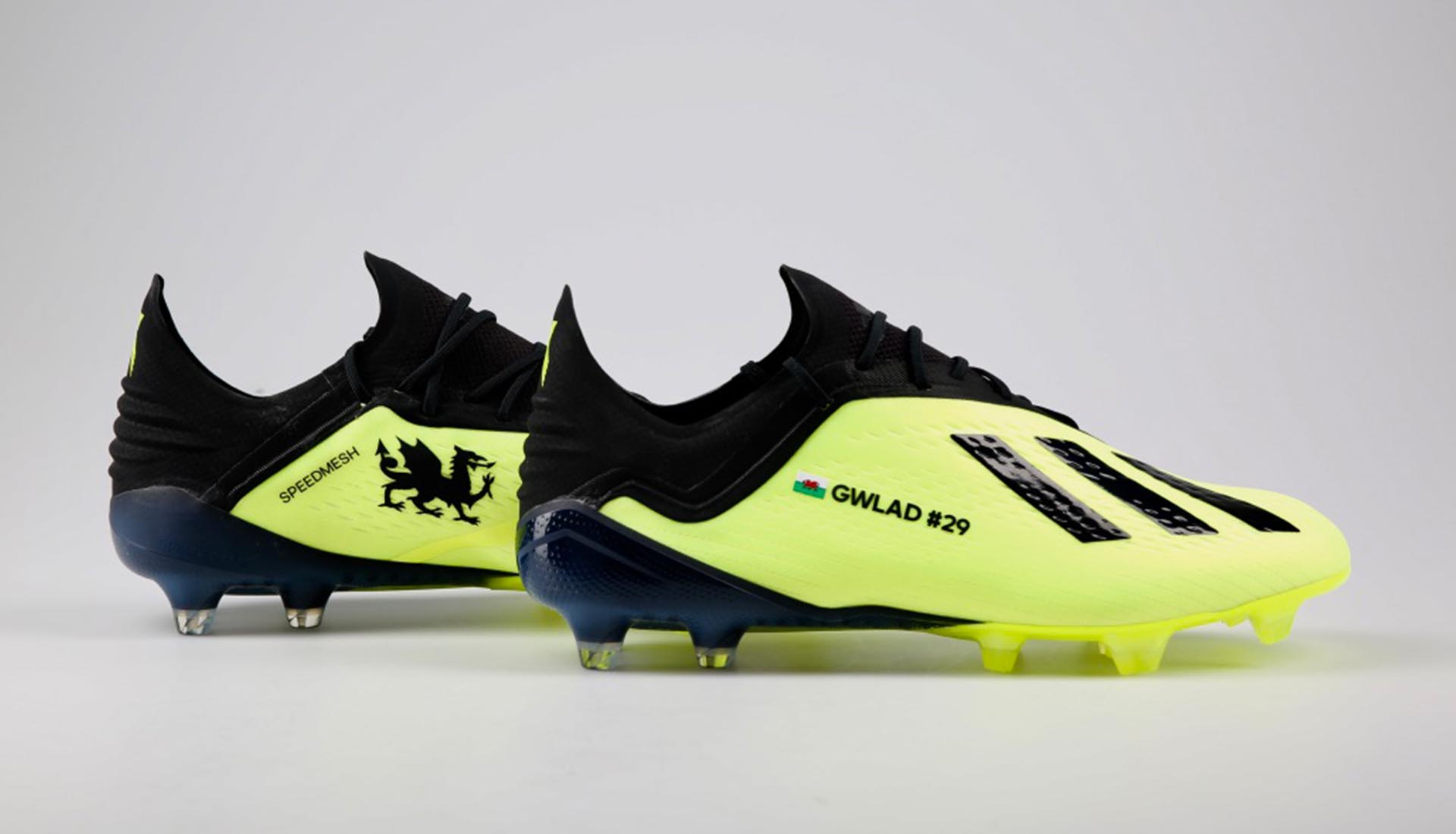 d73083f3f74b adidas Recognise Bale s Wales Scoring Record With Custom X 18.1 Boots -  SoccerBible.
