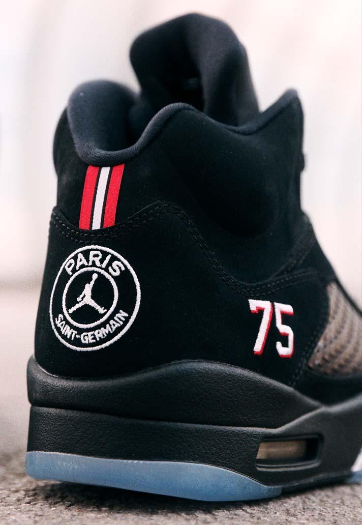big sale 4fd05 6d15d Closer Look at the PSG x Air Jordan V Sneakers - SoccerBible