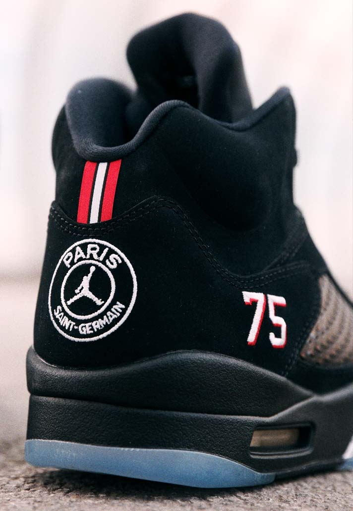 big sale 28eed 74c5c Closer Look at the PSG x Air Jordan V Sneakers - SoccerBible