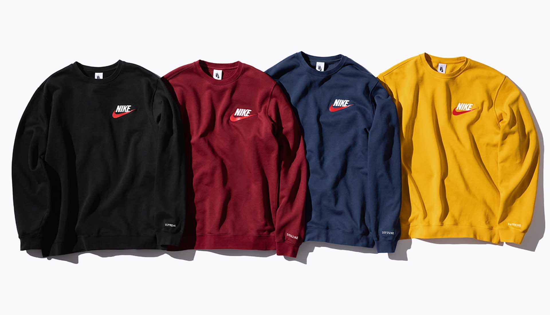 supreme x nike crewneck sweatshirt