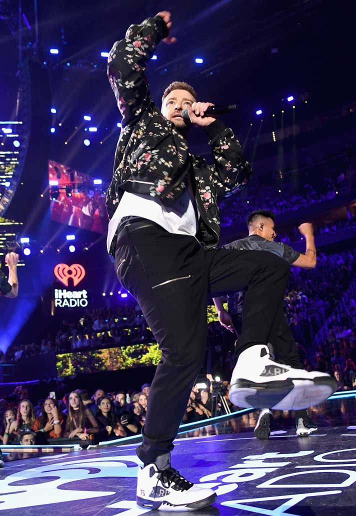"quality design a98d9 125fc Justin Timberlake Wears PSG Air Jordan V ""Friends & Family ..."