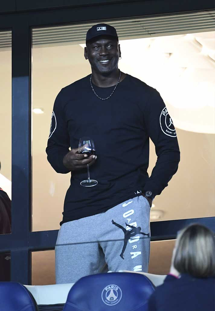 03846b308 Michael Jordan Attends PSG Victory Over Reims - SoccerBible