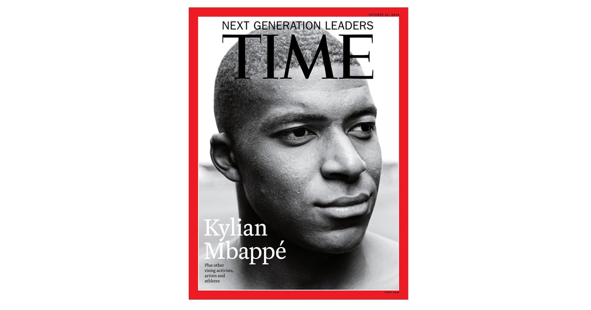 bef1c8a01 Mbappe Covers Time Magazine 39new Generation Leaders39 Issue