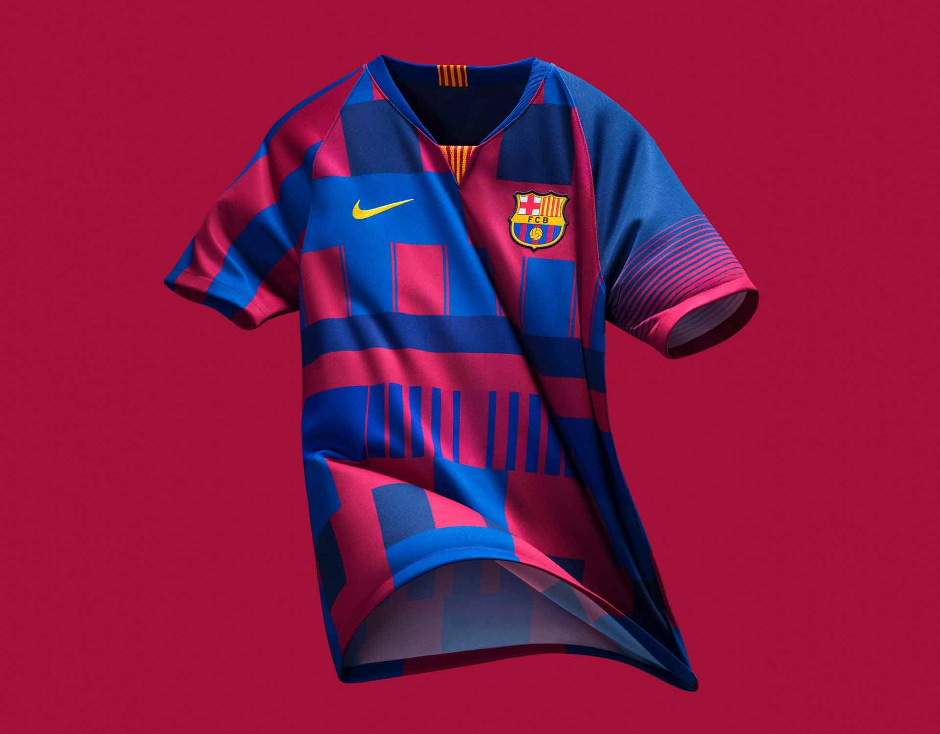 597e81976 Nike Launch Limited Edition Barcelona 20 Year Mash-Up Jersey ...