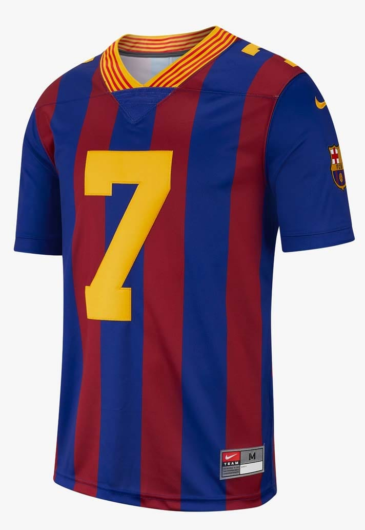 half off 0a292 4a05f Nike Launch NFL Jerseys For PSG & Barcelona - SoccerBible