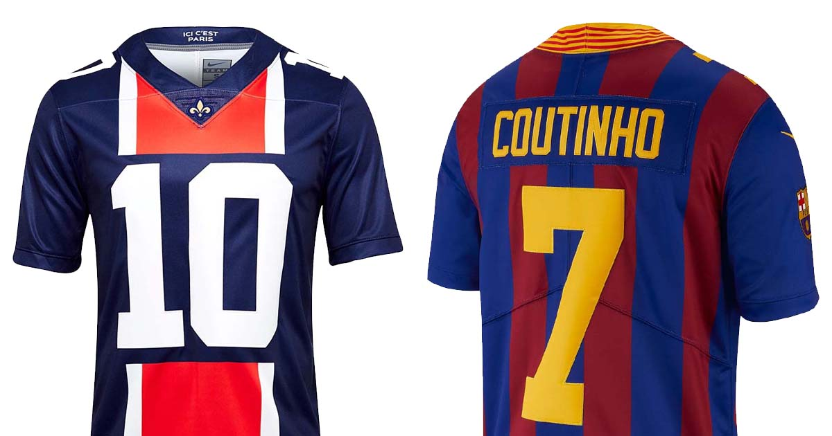 5c3d9122dc039 Nike Launch NFL Jerseys For PSG   Barcelona - SoccerBible.