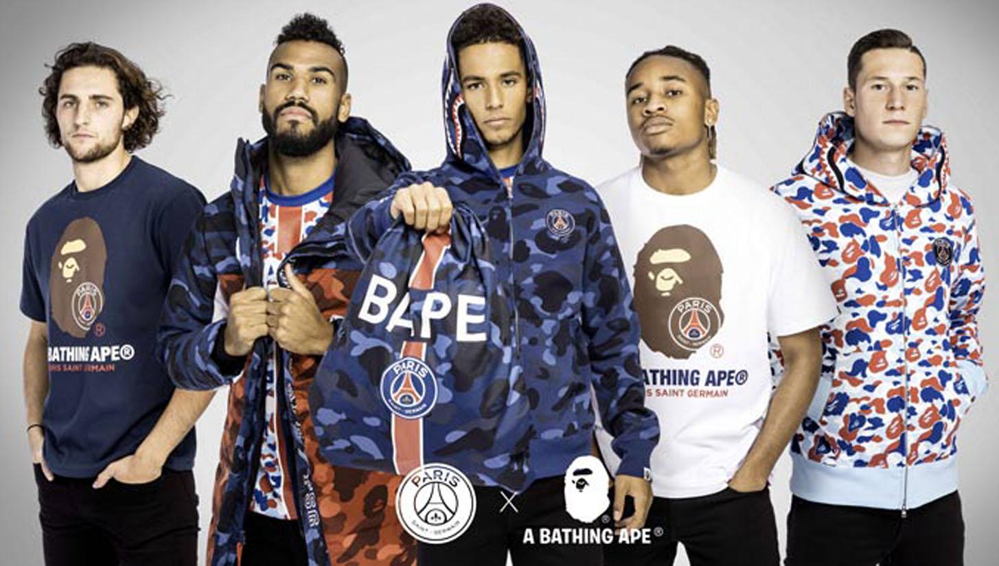 buy online 7f733 1cc88 Paris Saint-Germain & BAPE Preview New Collaboration ...