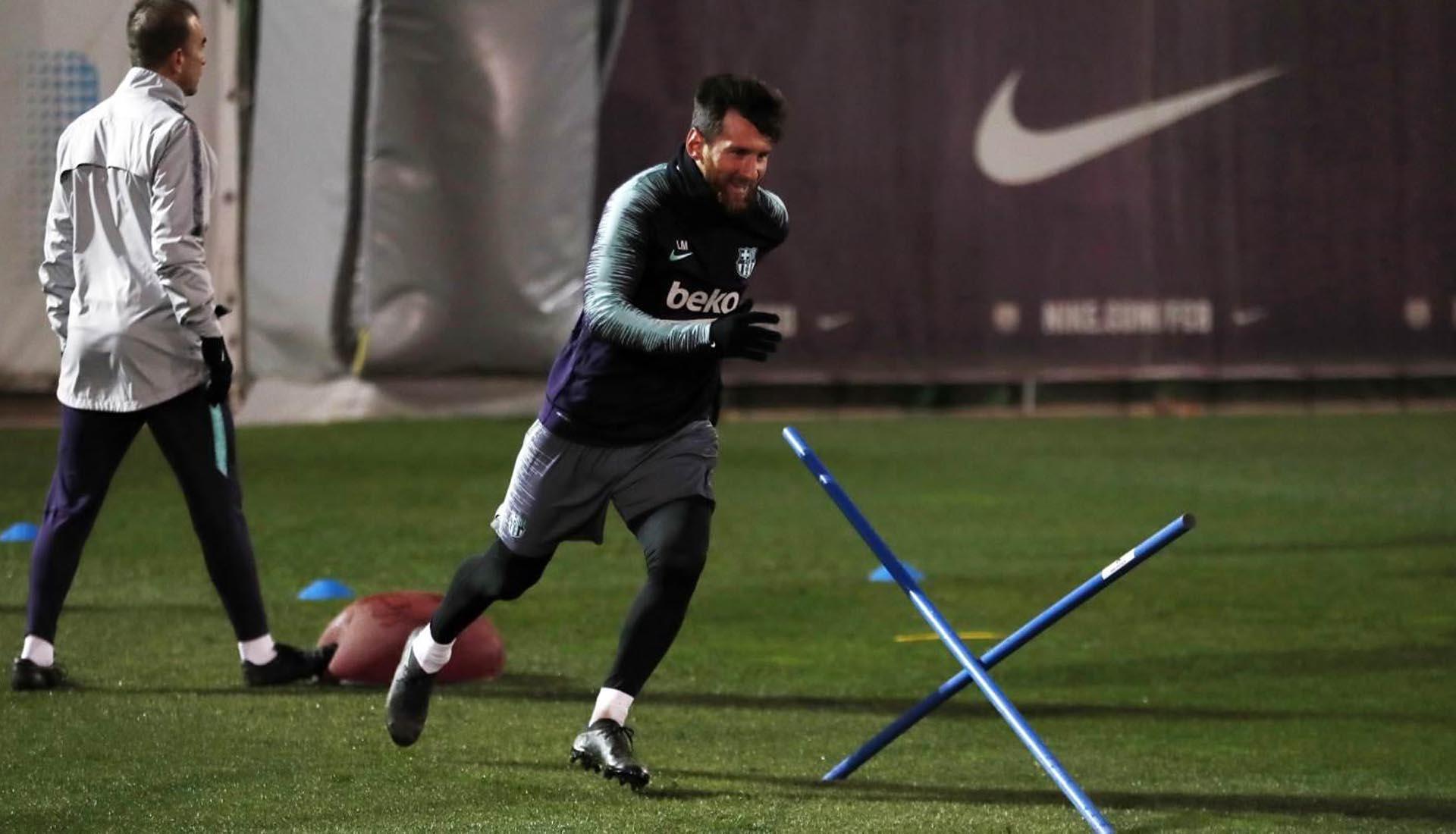 4476342be8d1 Lionel Messi Trains In Blackout adidas Nemeziz Boots - SoccerBible.