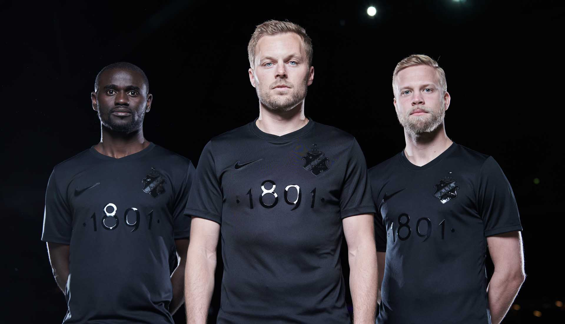 eea828c53f3 Nike Launch Stunning AIK 1891 Black Edition Jersey - SoccerBible