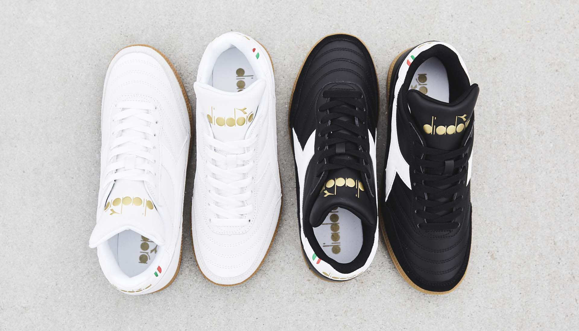1d0dfdeea7d Diadora Launch Gold Indoor Trainers In Two Colourways - SoccerBible