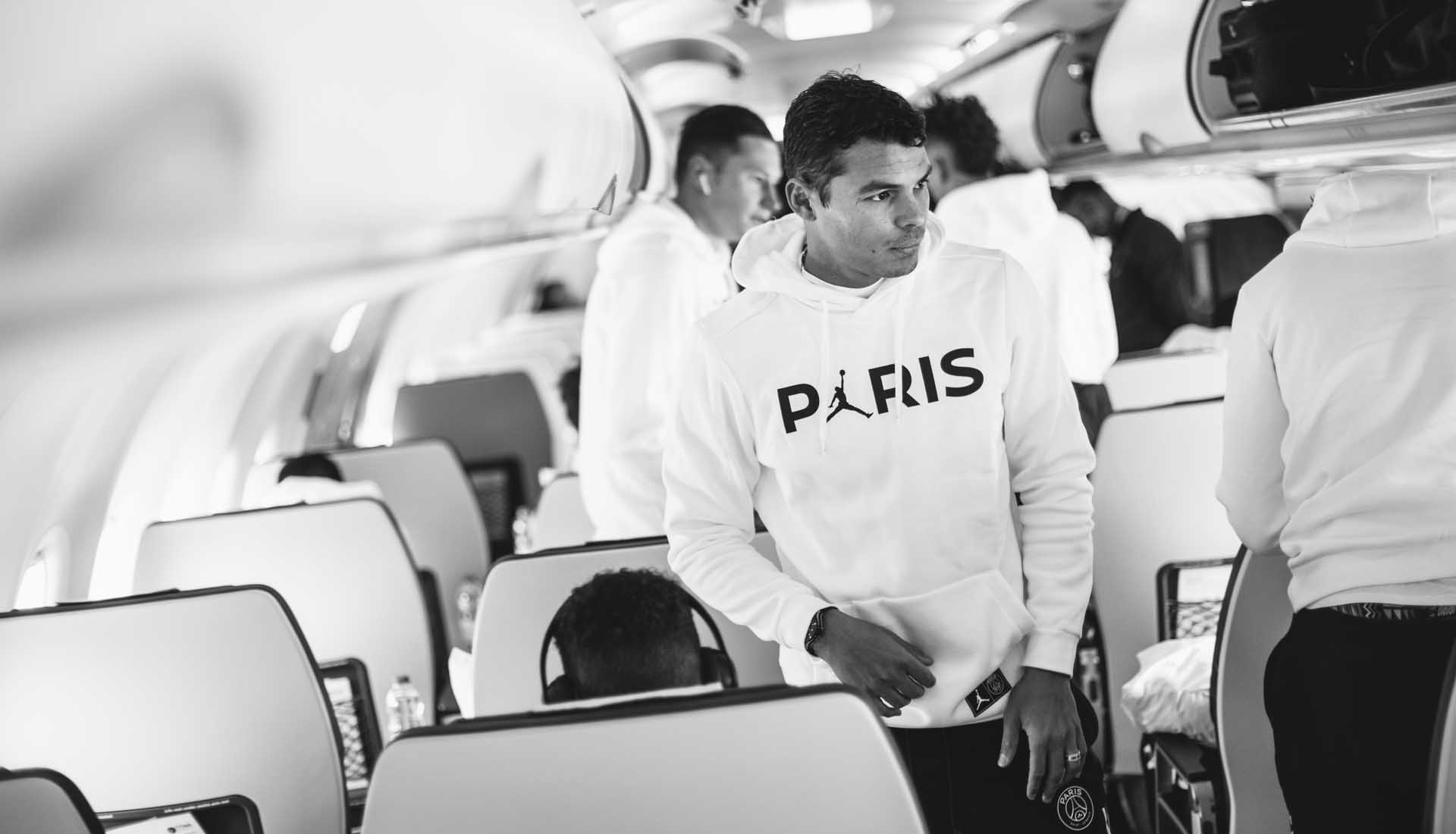 29604b90f7ae2 PSG Squad Debut Latest Jordan Collection on Manchester Trip ...
