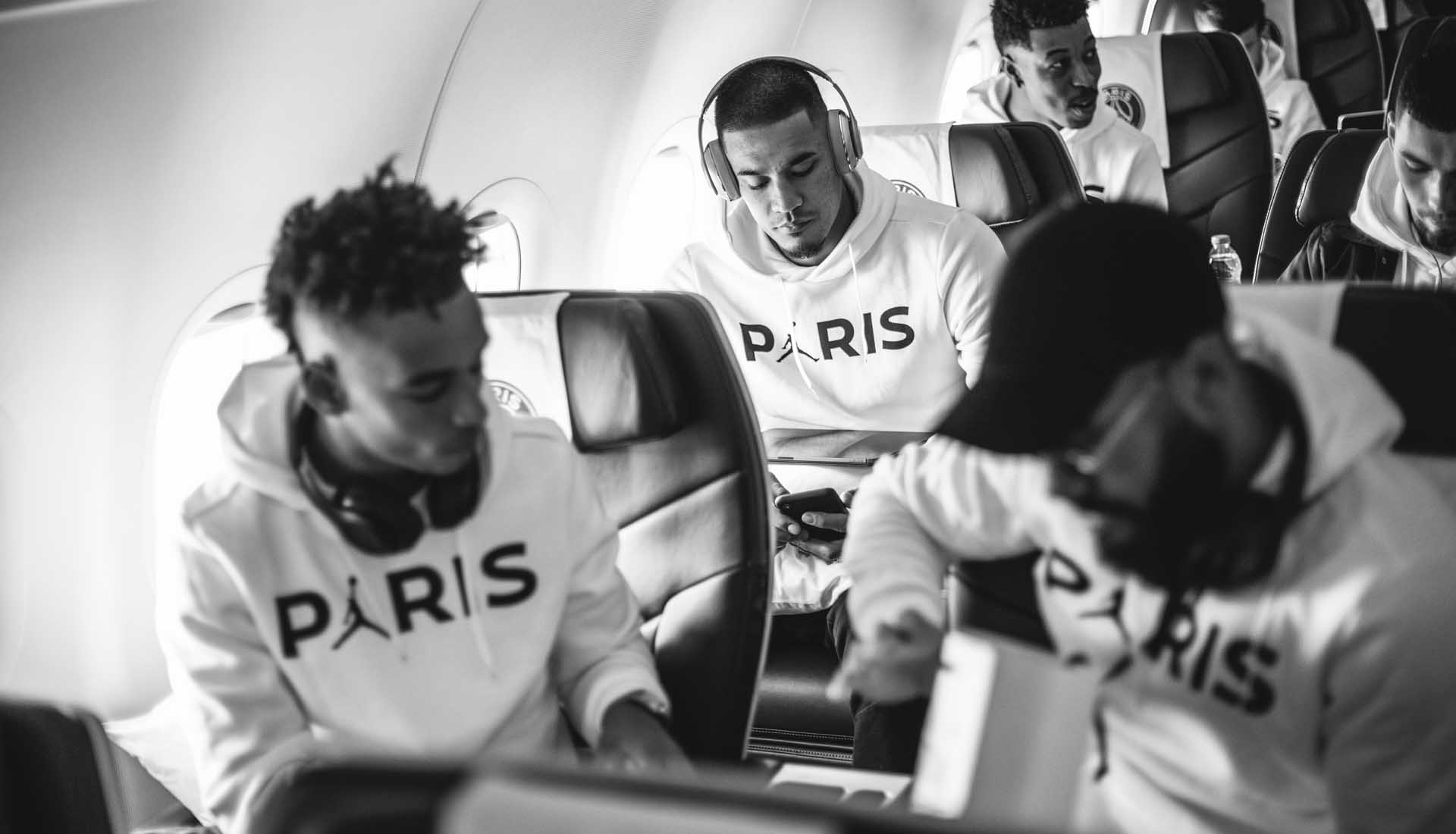 e318340c22c PSG Squad Debut Latest Jordan Collection on Manchester Trip ...