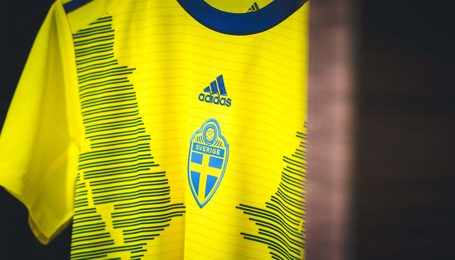 6411537317c adidas Unveil The Sweden 2019 WWC Home Shirt - SoccerBible.