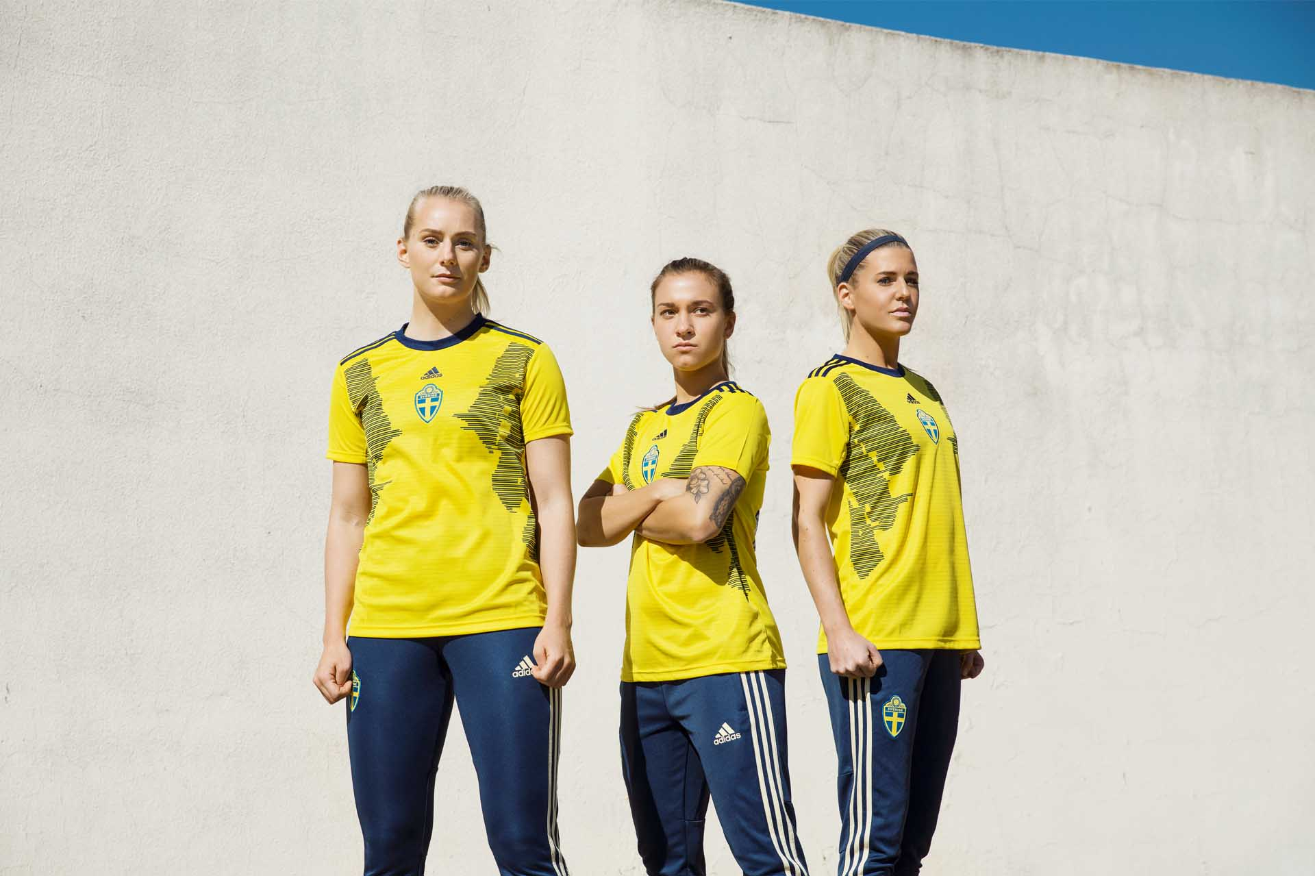 147194ed528b adidas Unveil The Sweden 2019 WWC Home Shirt - SoccerBible