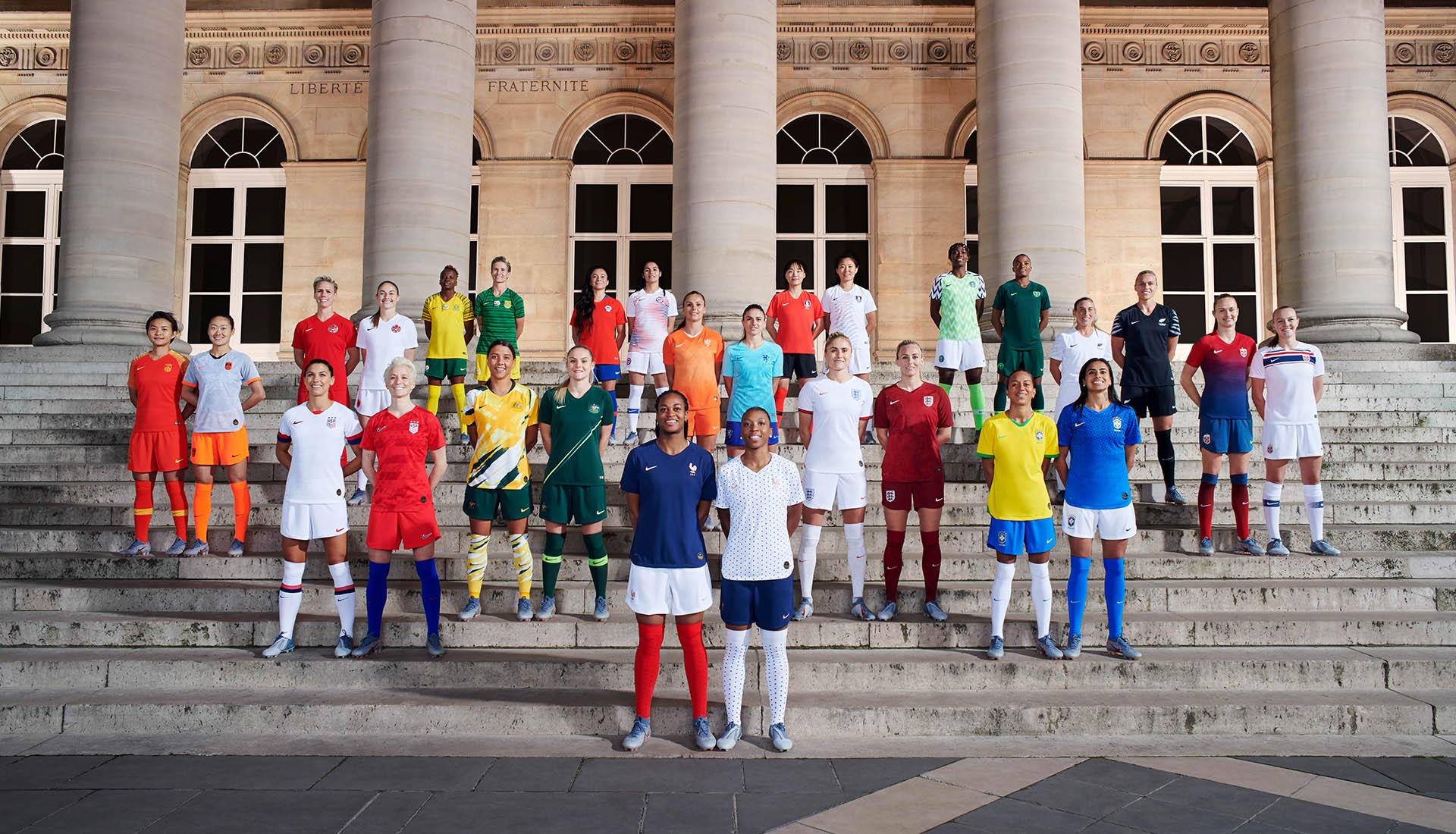 c7b28dabf75 Nike Unveil International Kits for 14 Different Countries in Paris -  SoccerBible.