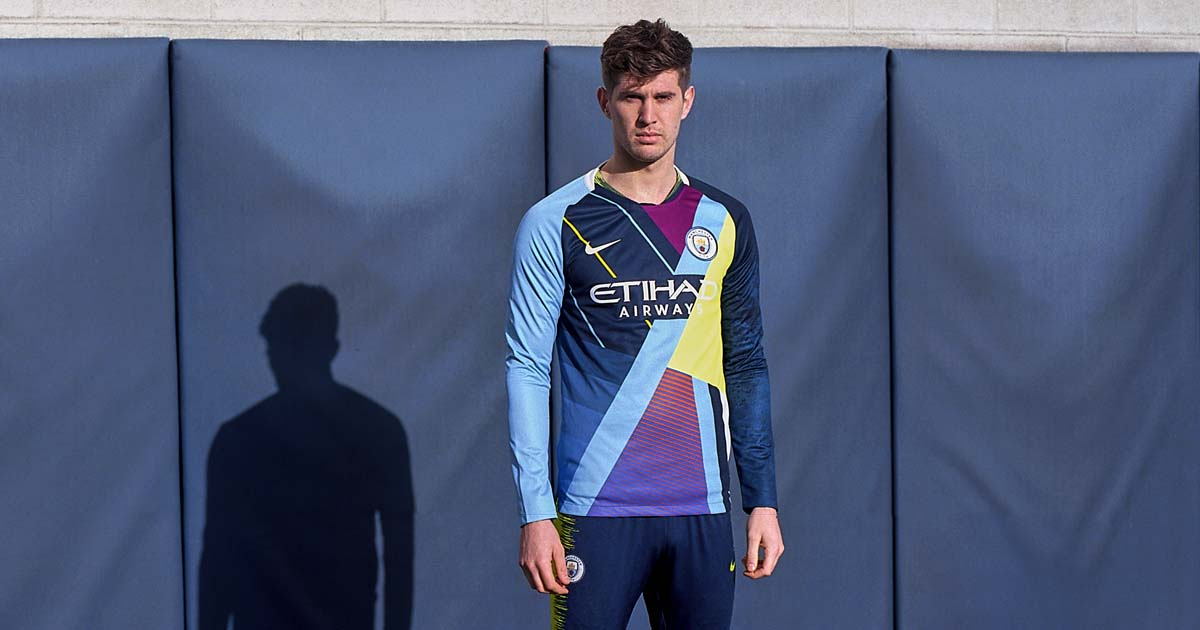 2b21d017 Nike Launch Manchester City Mash-Up Shirt - SoccerBible.