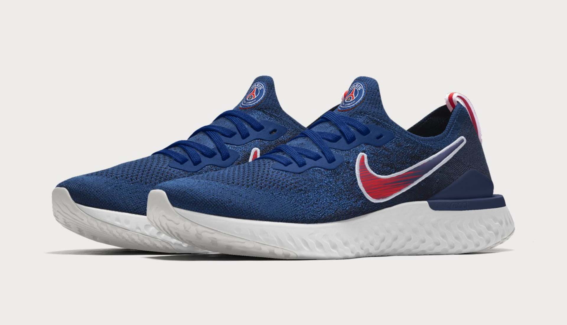 6c81ce4ba49b Nike Launch  Traditional Blue  PSG Epic React Flyknit 2 - SoccerBible