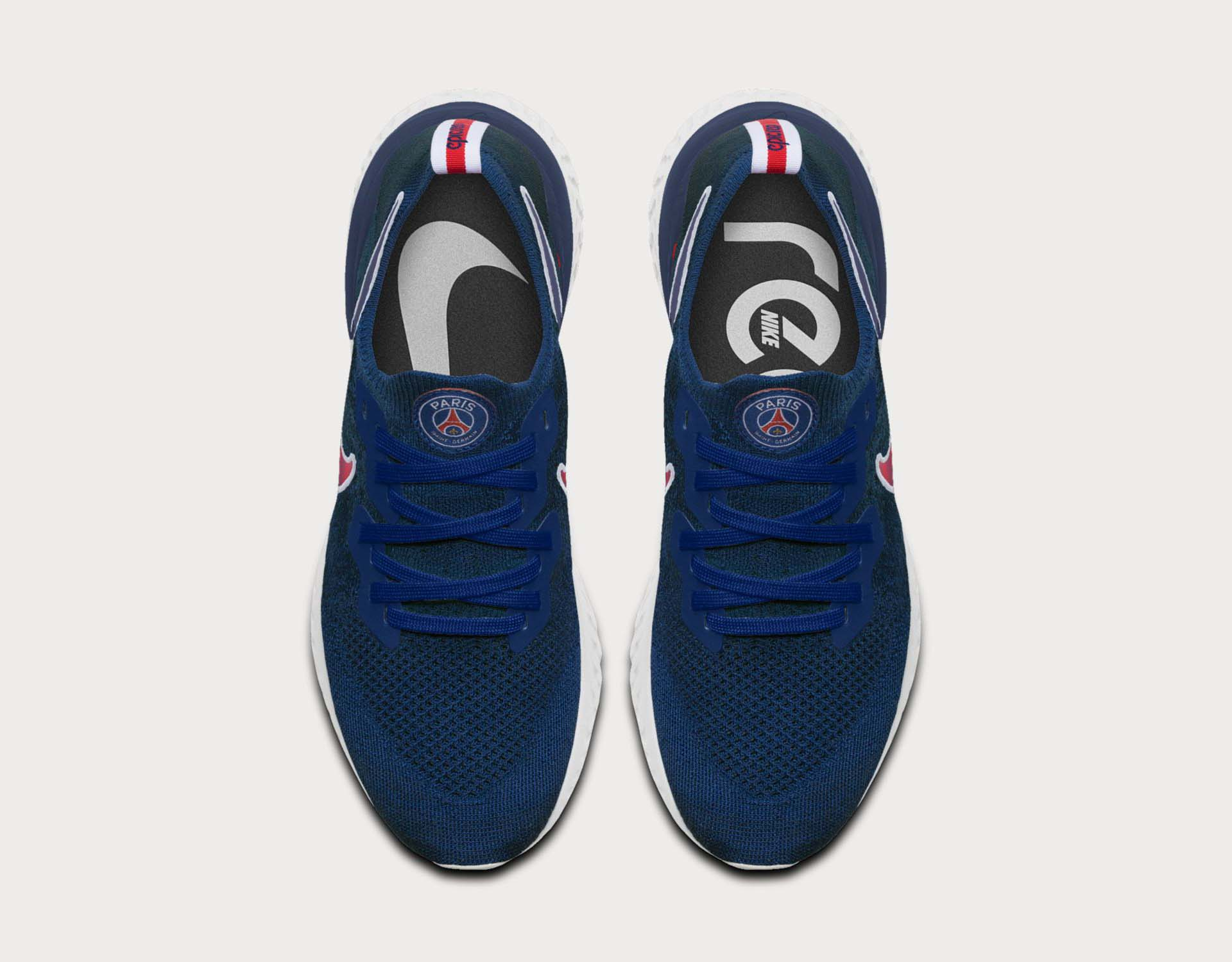 1208593f5e7d Nike Launch 'Traditional Blue' PSG Epic React Flyknit 2 - SoccerBible
