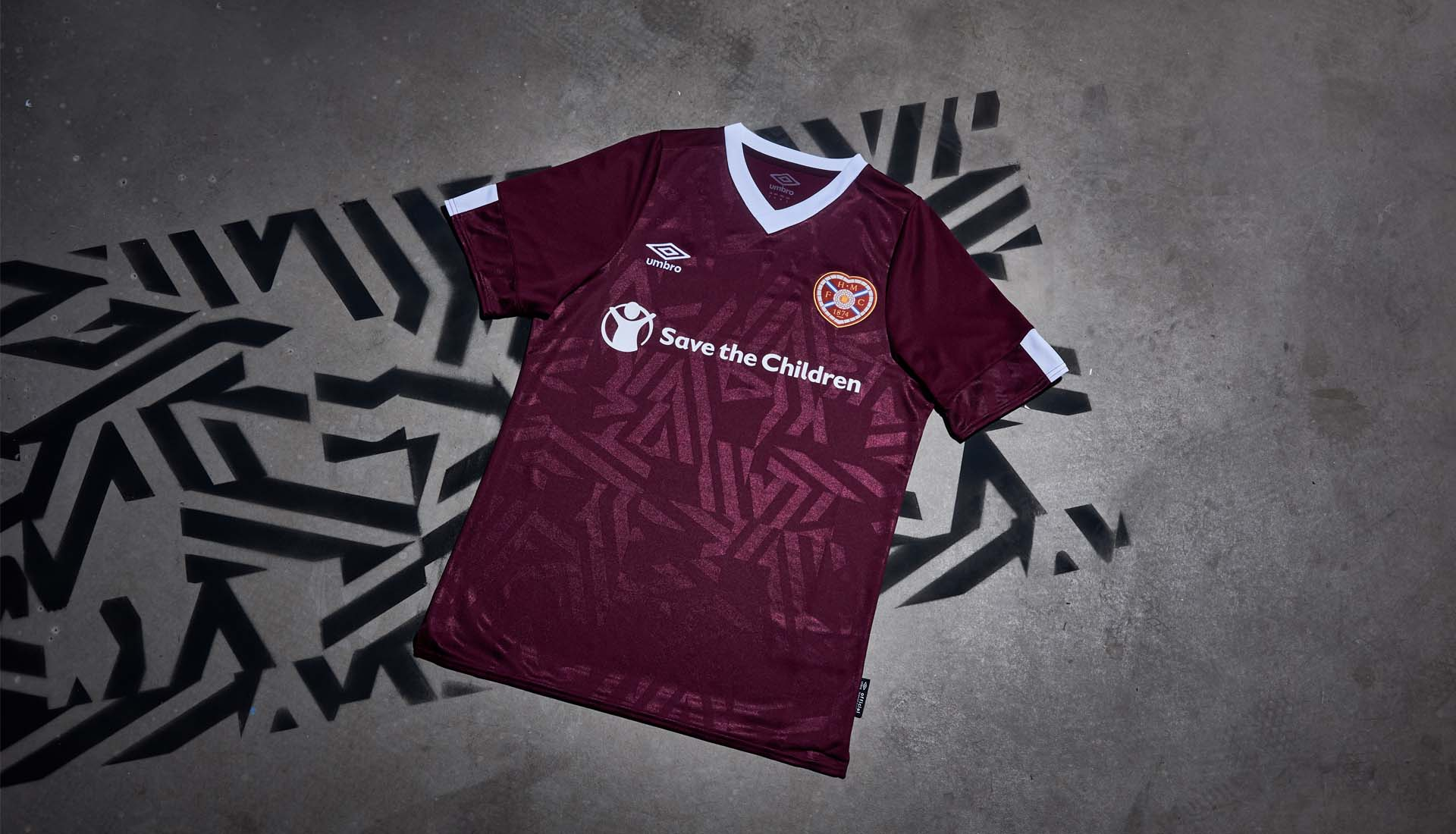 22cae2aee Umbro Launch Hearts 2019/20 Home Shirt - SoccerBible